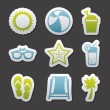 Summer icons — Stockvektor