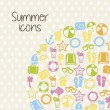 Summer icons — Stock Vector #23538885