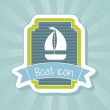 Boat icon — Stock Vector