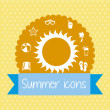 Summer icons — Stock Vector #23539249