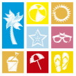 Summer icons — Stock Vector #23539283