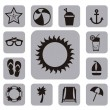 Summer icons — Stock Vector #23539311