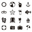 Summer icons — Stockvectorbeeld