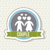 Couple icon — Stock Vector