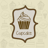 Cup cake — Stock Vector