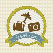 Iconos de viaje — Vector de stock
