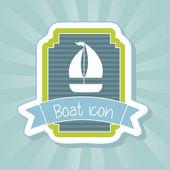 Boat icon — Stock Vector