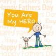 Fathers Day Icons and Cards — Stock vektor #23740883