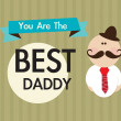 Fathers Day Icons and Cards — Image vectorielle