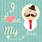 cartes et icônes de jour de pères — Vecteur #23741483