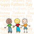 Stock Vector: Fathers Day Icons and Cards