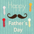 Fathers Day Icons and Cards - Stock Vector