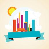 City Icons — Stock Vector