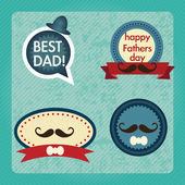 Fathers Day Icons and Cards — Stock Vector