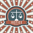 Justice icon - Stock Vector