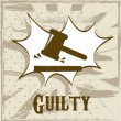 Guilty symbol — Stock Vector