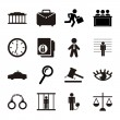 Stock Vector: Jail icons
