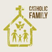 Catholic family — Stock Vector