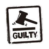 Guilty seal — Stock Vector