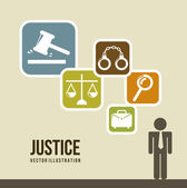 Justice icons — Stock Vector