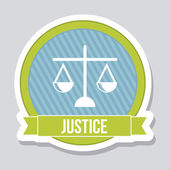 Justice icon — Stock Vector