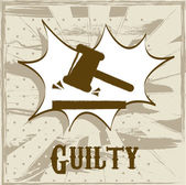 Guilty symbol — Stock Vector
