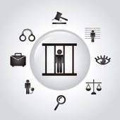Jail icons — Stock Vector