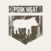 猪肉 — 图库矢量图片