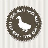 Carne de pato — Vector de stock