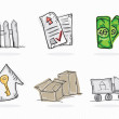 Business icons — Stockvectorbeeld