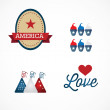 USA Icons — Stock Vector #24079479