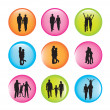 Family and couple — Imagen vectorial