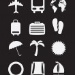 Beach icons — Stock Vector #24234883