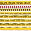 Caution and danger ribbon - Stock Vector