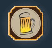 Rótulo de cerveja — Vetorial Stock