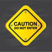 Sinal de advertência — Vetorial Stock