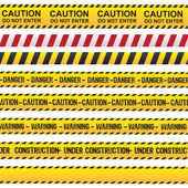 Caution and danger ribbon — Stock Vector