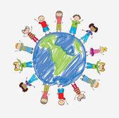τα παιδιά — Διανυσματικό Αρχείο