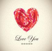 Liebe dich — Stockvektor
