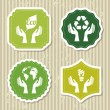 Eco label - Stock Vector