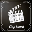 Clap board - Stock Vector