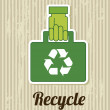 Stock Vector: Recycle sign