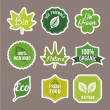Nature labels — Image vectorielle