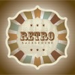 Stock Vector: Retro background