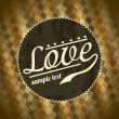 Love retro - Stock Vector