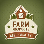 Farm label — Stock Vector