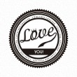 Love label — Stock Vector