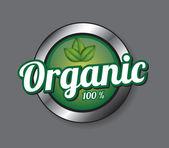 Organic button — Stock Vector