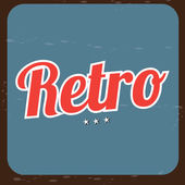 Retro label — Vetorial Stock