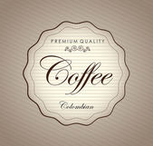 Premium Coffee — Stock Vector